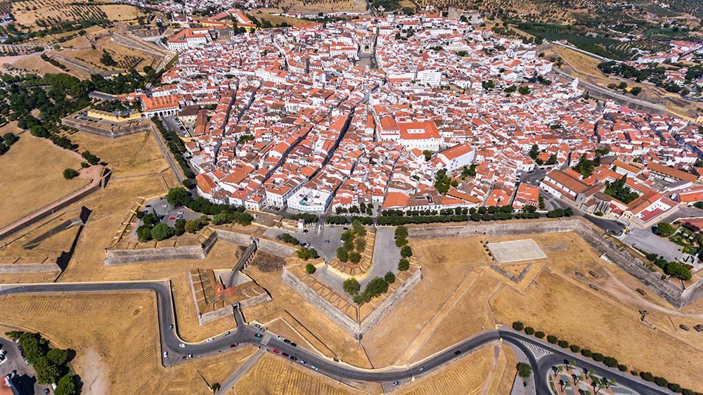 Vista aérea de Elvas
